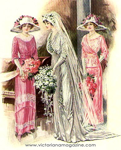 Edwardian times wedding dressing style of women