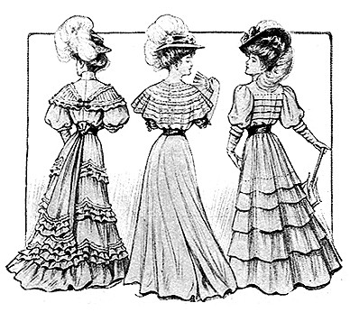 Edwardian times dressing style of women